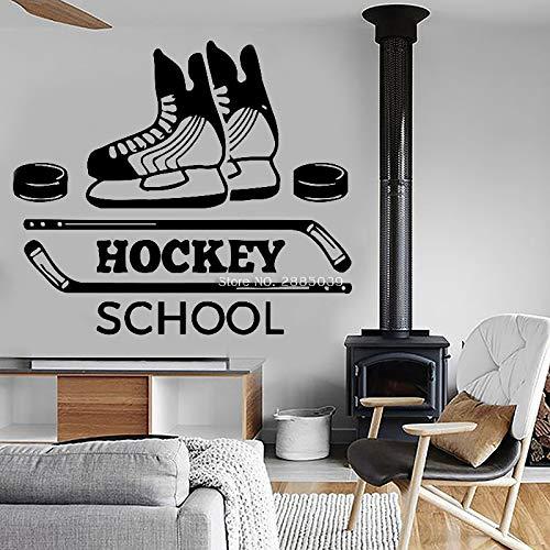 supmsds Benutzerdefinierte Name Hockey Decal Kunst Hockey Decal Home Decor Hockey Wand Vinyl dekorative Eishockey Wandaufkleber handgemachte Poster Lc XL 97 x 84 cm