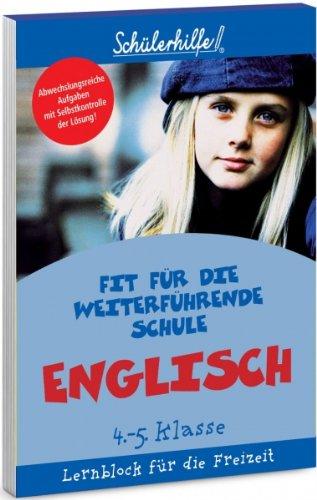 Lernblock Englisch, 4.-5. Klasse