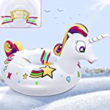 ROYI Snow Tube 49 Inch Durable Large Inflatable Snow Sled with Reinforced Handle...