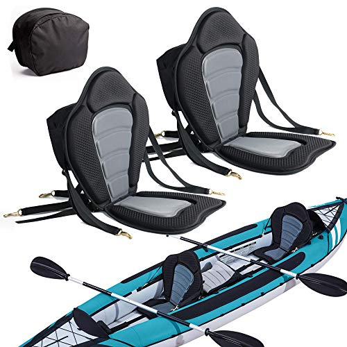 2 Pack of Kayak Seat Deluxe Padded Canoe Backrest Seat Sit...
