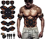 MATEHOM EMS Muscle Stimulator, ABS Trainer Ab Toner Belt Abdominal Exerciser Abs Stimulator Muscle Toner Stomach Toning Belt Six Pack Abs Pad Muscle Training for Men & Women