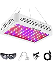 LED Grow Light,LED Plant Lights Full Spectrum Double Switch Grow Lamps for Indoor Plants Greenhouse Veg and Flower with Adjustable Rope (White)