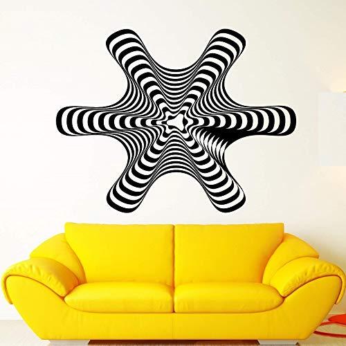ONETOTOP Ilusión óptica Vinilo calcomanía hipnosis ilustración Arte Abstracto Pegatina Sala de Estar Dormitorio Moda Pegatina de Pared