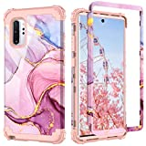 PIXIU Galaxy Note 10 Plus case,Unique Dual Layer Heavy Duty Shockproof Protective Hybrid Sturdy Case for Samsung Galaxy Note 10 Plus Marble