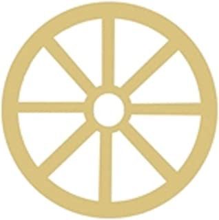 Wagon Wheel Cutout Unfinished Wood Western Covered Wagon Country Farm Door Hanger MDF Shape Canvas Style 1