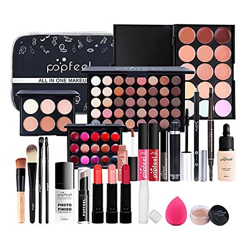 JasCherry 24 Piezas Todo en uno Juego de Maquillaje Completo Set Mujeres Estuche de Maquillaje Paleta Vacaciones Kit - Cosmético de Belleza Juego de Regalos pour Cara y Labio Make-up #1