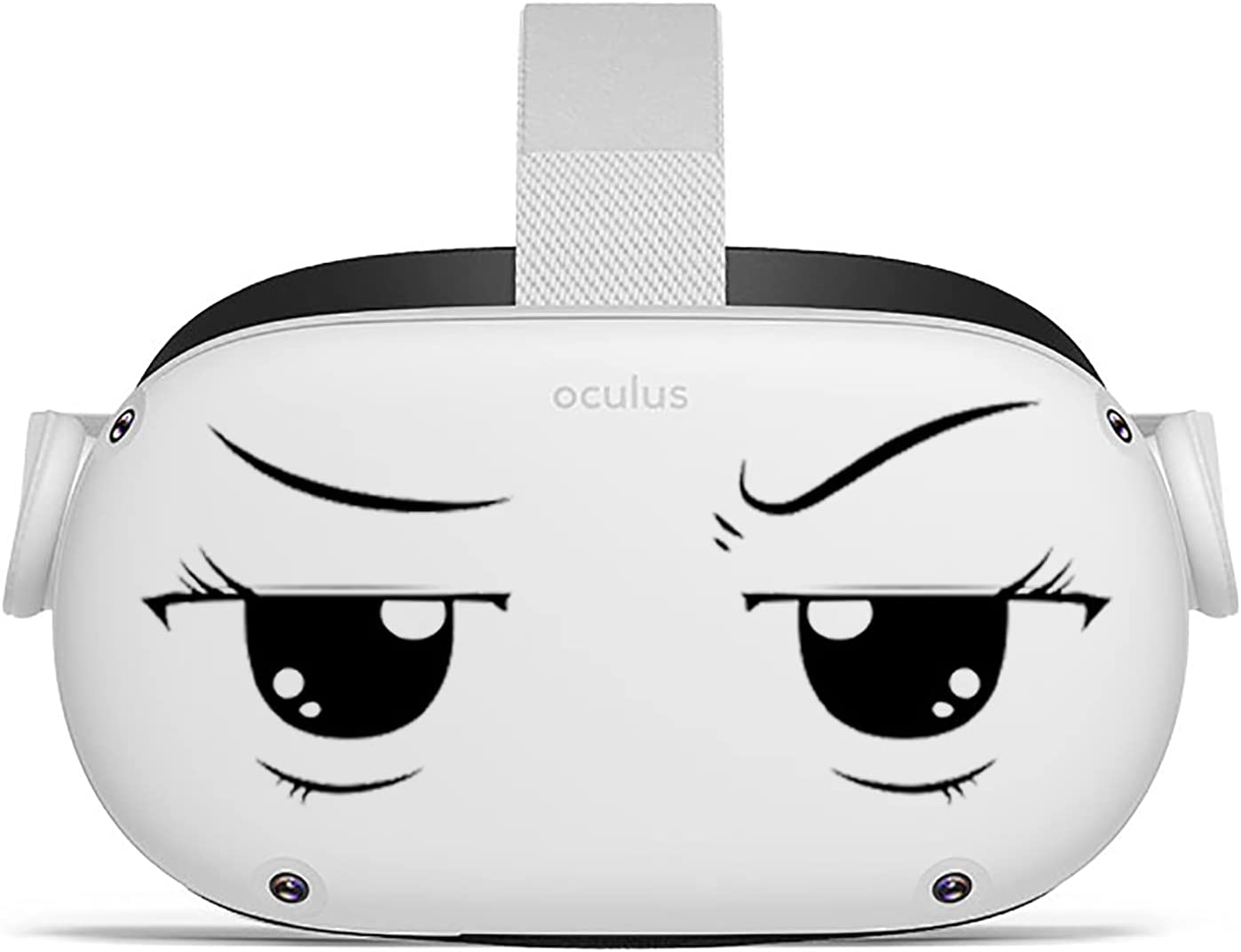 Oculeyes - Oculus Quest 2 VR Headset Stickers - Cartoon Anime Eyes Vinyl Decals - No Background Vinyl Decal Eye Stickers - Stain Resistant Decal Stickers - Easy to Install Oculus Quest 2 Stickers