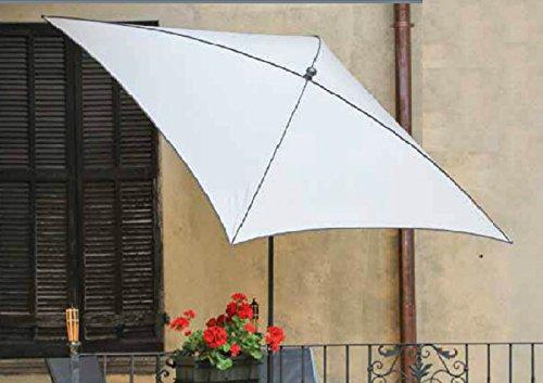 PEGANE Parasol centré, Tissu dralon Coloris balnc - Dim : 210X130/4 cm