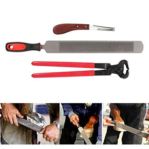 Raspa per zoccoli dei cavalli, cura degli zoccoli per cavalli con HUF pinza e coltello da maniscalco