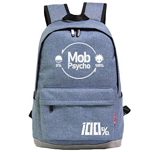 Mob Psycho 100 Freizeitrucksack Casual Daypack Rucksack Anime Student Rucksack Simple Style Schultasche Unisex (Color : A03, Size : 44 X 32 X 15cm)