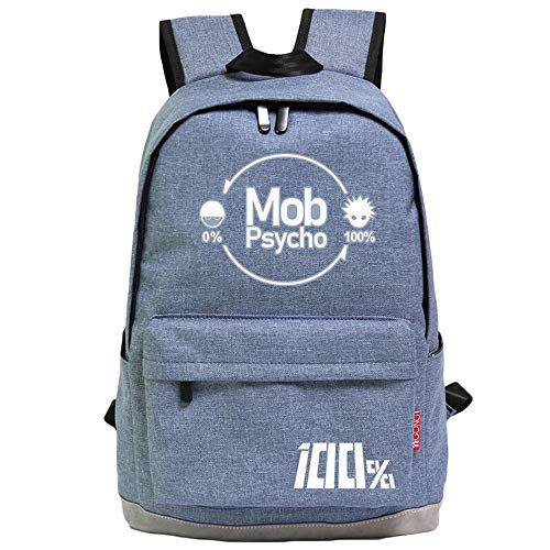 Unisex Mob Psycho 100 Rucksäcke Casual Daypack Rucksack Anime Student Rucksack Simple Style Schultasche (Color : A03, Size : 44 X 32 X 15cm)