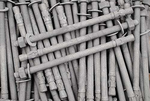 (10) Galvanized Concrete Wedge Anchor Bolts 1/2 x 8-1/2 Includes Nuts & Washers
