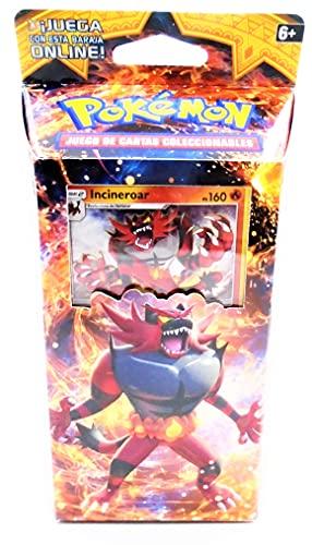 sol y luna juego de cartas (60 x unidades mixtas) coleccionables, calor rugiente , baraja temática pokemon (lengua española)