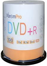 XtremPro DVD+R 16X 4.7GB 120Min Recordable DVD 100 Pack Blank Discs in Spindle - 11027