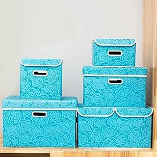 Boite Bacs de rangement pliants avec couvercles tissu vêtements de stockage boîte cubes enfants jouet organisateur contene...
