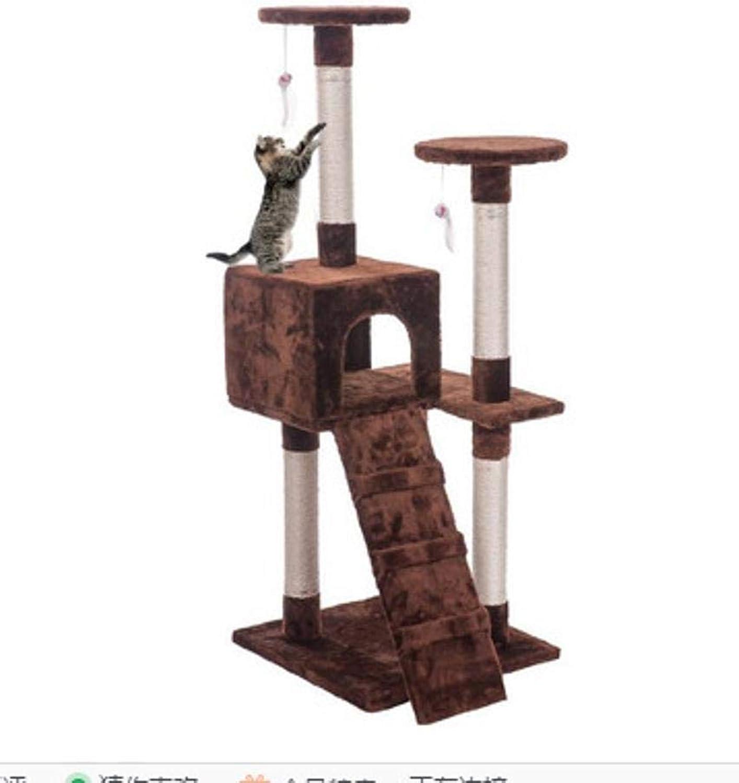 Dixinla Cat climbing frame Cat Grinding Claw Toy cat Litter cat cat Scratch Board cat Jumping pet toy 50  50  130cm