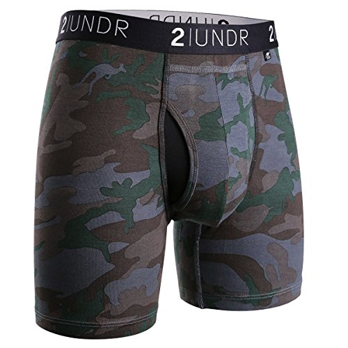 2UNDR Men's Swingshift Boxers,Dark Camo,XX-Large