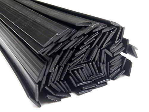 Alambre de soldadura de plástico PP 8x1mm Plano Negro 25 barra