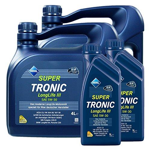 2x 1L + 2x 4L = 10 Liter ARAL SuperTronic Longlife III 3 5W-30 Motoröl