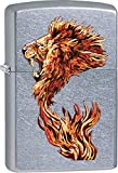 Zippo Personalized Message Engraved Customized Gift for Him for Her Animals Part2 Lighter Indoor Outdoor Windproof Lighter (Lion Fire)
