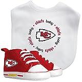 Baby Fanatic NFL Legacy Infant Gift Set, Kansas City Chiefs, 2Piece Set (Bib & PRE-Walkers)