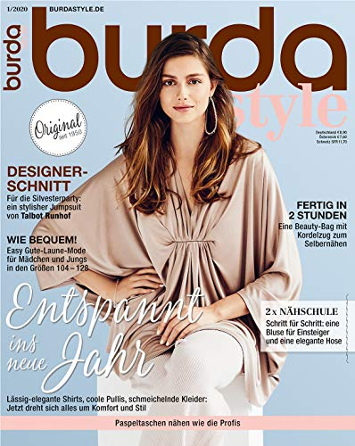 burda style Nähmagazin: Januar-Ausgabe [2020-1], Schnittmuster ideal geeignet für Anfänger und Näherfahrene