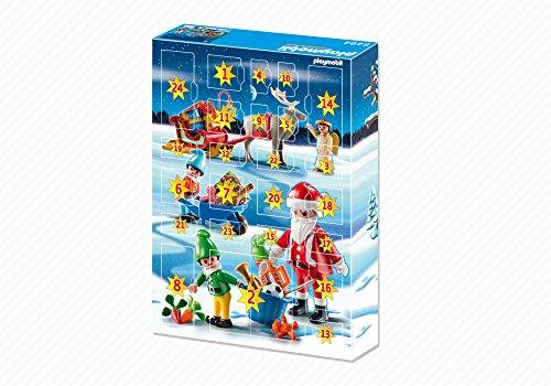 PLAYMOBIL - Calendario de Adviento Calendario de Navidad con Papá Noel Playsets de Figuras de jugete, Color Multicolor (5494)