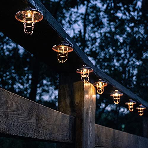 Solar Lichterkette Außen, LED Lichterkette Außen ,Solar Außen Wasserdicht IP65 Solar Lichterkette,Outdoor/Indoor Deko Licht für Garten Balkon Terrasse Hof Zelt Café [Energieklasse A+++] (6MX20LED)