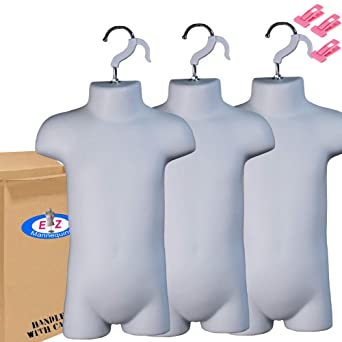 Photos or Display Toddler Mannequin Torso for Hanging by EZ-Mannequins for Craft Shows for 18mo-4T Clothing Sizes. Easy to Use and Store Dress Form Hollow Back Body Child
