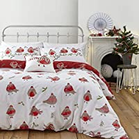 accoccolarsi per Natale con questi allegro Robins, la neve bianca e piacevoli al tatto rosso design ti porta festive divertente per la vostra camera da letto Catherine Lansfield è famosa per stile e qualità – a great British Design contemporaneo. Il ...
