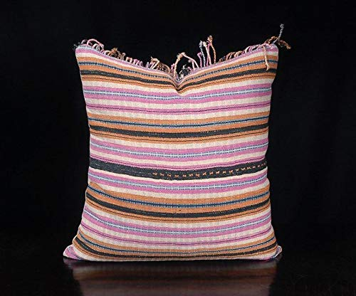 Tribal decorative square pillow Spring new work one after 67% OFF of fixed price another Karen ethnic throw fabric Hmong