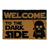 koko doormats felpudos Entrada casa Originales, Fibra de Coco y PVC, Felpudo Exterior Welcome TO The Dark Side, 40x60x1.5 cm | Alfombra Entrada casa Exterior | Felpudos Divertidos para Puerta