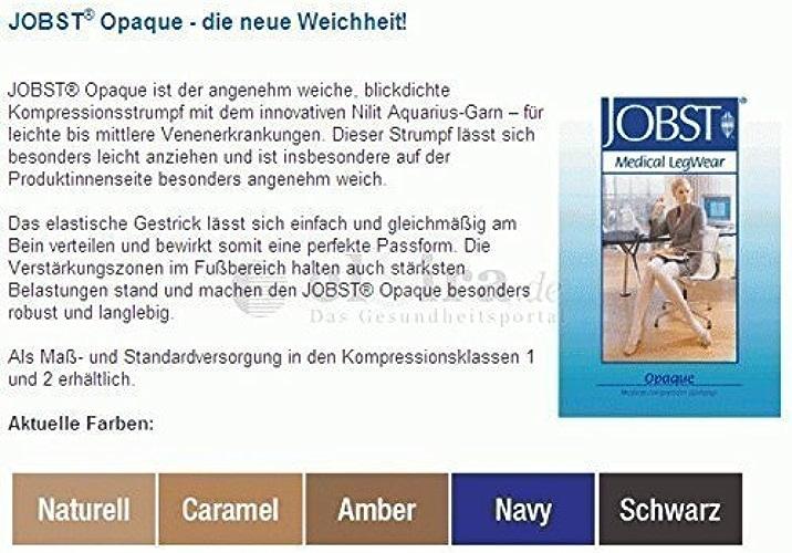 BSN Jobst Jobst Opaque KKL 2 AG Bas de cuisse normal Avec Dentelle - Noir, Gr.IV