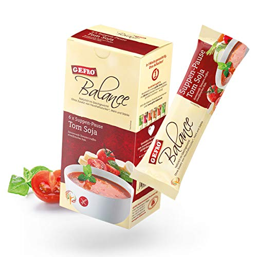GEFRO Balance Suppen-Pause Tom Soja: 6 Portionsbeutel, warme Mittagspaue & Mahlzeit