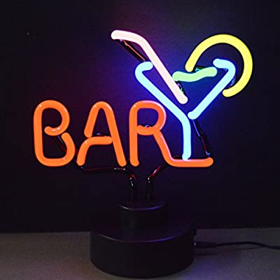 Neonetics Business Signs Bar with Martini Neon Sign Sculpture