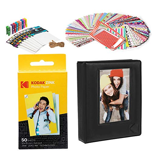 Kodak 2x3ʺ Premium Zink Paper Starter Kit with Photo Album