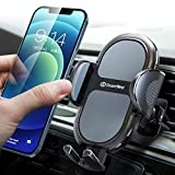 【2020新モデル】DesertWest 車載ホルダー 片手操作 厚いケース対応 スマホホルダー スマホスタンド 携帯ホルダー 車 エアコン 吹き出し口用 原料から作りまでの高品質 ワンタッチ/片手着脱/360度回転/雑音無し/日本語取扱説明書付き/取り付け簡単 4-7インチ全機種対応 iPhone/Huawei/SHARP/Moto/Samsung/Sony/Xiaomi Mi/OPPO/Blackview/UMIDIGI/Oneplus/LGなど