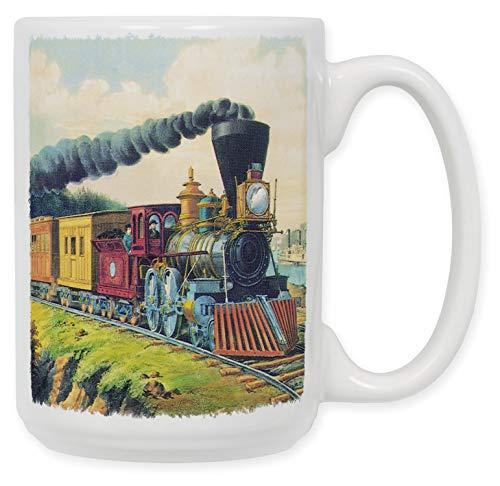 N\A Currier & Ives: Taza de café de cerámica Express Train, de