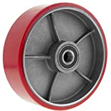 PrimeMatik - Rueda para transpaleta Rodillo de Poliuretano de 180x50 mm 900 Kg 2-Pack