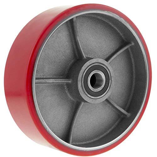 PrimeMatik - Paletten Fixierer Rad für Hubwagen Polyurethan Rolle 180x50 mm 900 Kg 2-Pack