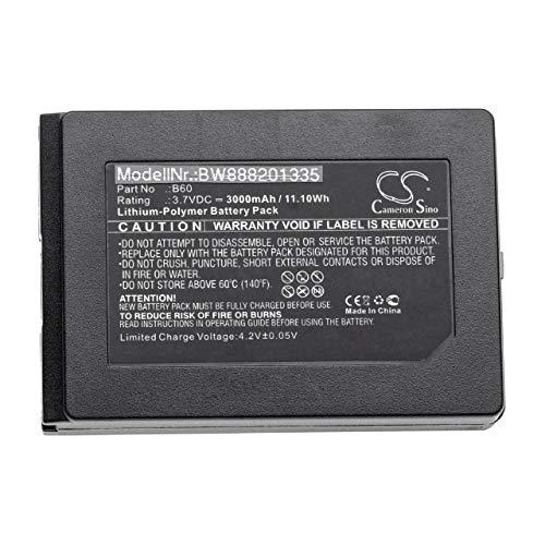 vhbw Akku passend für Vectron Mobilepro 3 Barcodescanner POS (3000mAh, 3,7V, Li-Polymer)