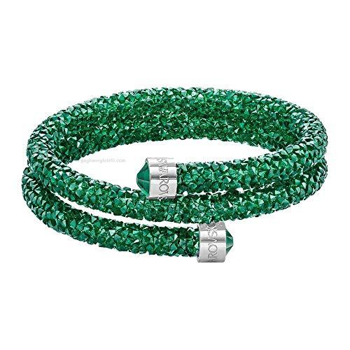 Swarovski Damen-Armreif CRYSTALDUST Edelstahl Kristall grün - 5273642