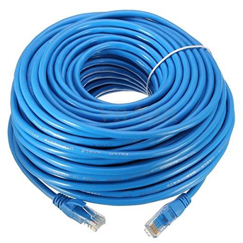 Link-e : Cable reseau ethernet RJ45 30m Cat.6 Bleu, qualité Pro, Haut débit, Compatible Connexion Internet, Box, TV, PC, Consoles, PS4, PS3, Xbox, Switch, Routeur