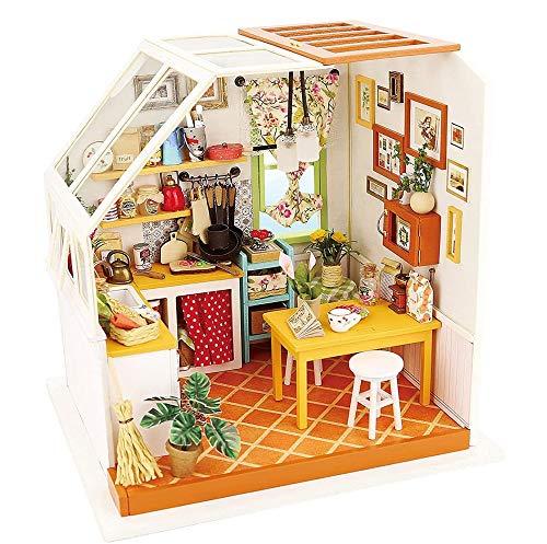 LAYBAY Exquisite DIY Puppenstuben Kits, Holzpuppenhaus Set DIY Mini House Set Crafts-3D-Holz-Puzzle Modell Bauen Set-perfektes Bbirthday Weihnachten Room Geschenke Junge Mädchen und Erwachsene