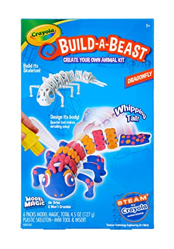 Crayola Build A Beast Dragonfly, Model Magic Craft Kit, Easter Basket Stuffer, Gift for Kids, 5, 6, 7, 8