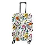 Funda para maleta CHEHONG con diseño de flores coloridas y bolsa de transporte de fibra de poliéster lavable y elástica a prueba de polvo