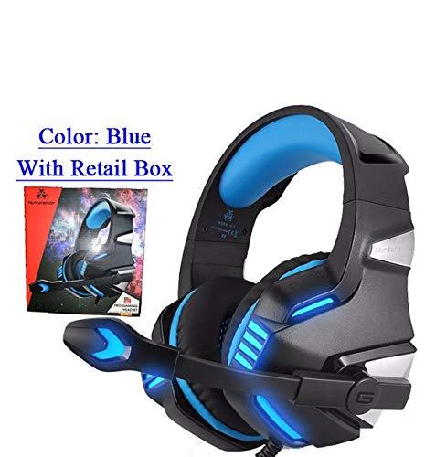 LanLan - Auriculares para videojuegos con micrófono LED estéreo para PC, PS4, Xbox Mince 360 NS (3,5 mm)