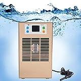 Enfriador de agua del tanque de peces, Máquina de enfriamiento de agua del tanque de peces, Máquina de enfriamiento del acuario enfriador de tanque de peces para acuario 35L Usos de acuicultura(70W)