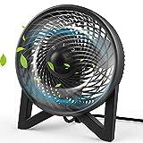 Dr. Prepare Desk Fan, Table Fan with 2 Speeds, Personal Cooling Beside fan for Bedroom Sleeping Room Desktop Office Home Kitchen Camping, Powerful Motor Electric Fan, Black,8-inch