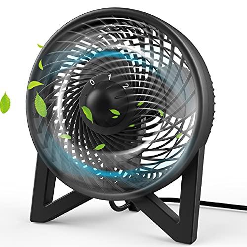 Dr. Prepare Desk Fan, Table Fan with 2 Speeds, Personal Cooling Beside fan for Bedroom Sleeping Room...